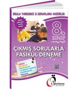 Öğretmen Yayınları 8.Sınıf Tüm Dersler Çıkmış Sorularla Fasikül Deneme