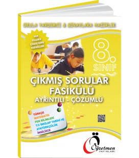 Öğretmen Yayınları 8.Sınıf Tüm Dersler Çıkmış Sorularla Fasikül Deneme Çözümlü